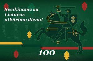 Sveikiname su Lietuvos atkūrimo diena!